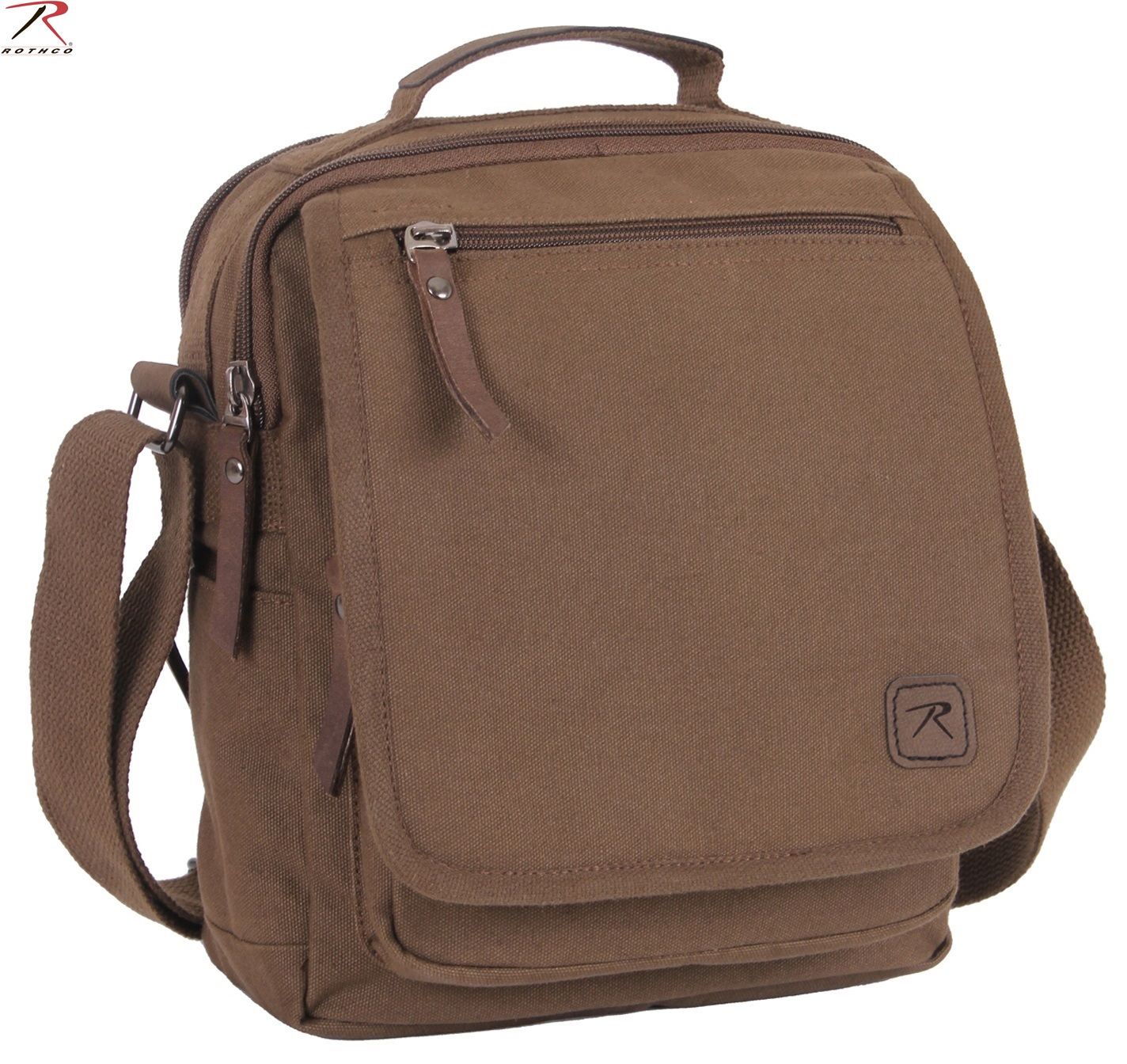 Canvas Messenger Bag Every Day Carry Brown