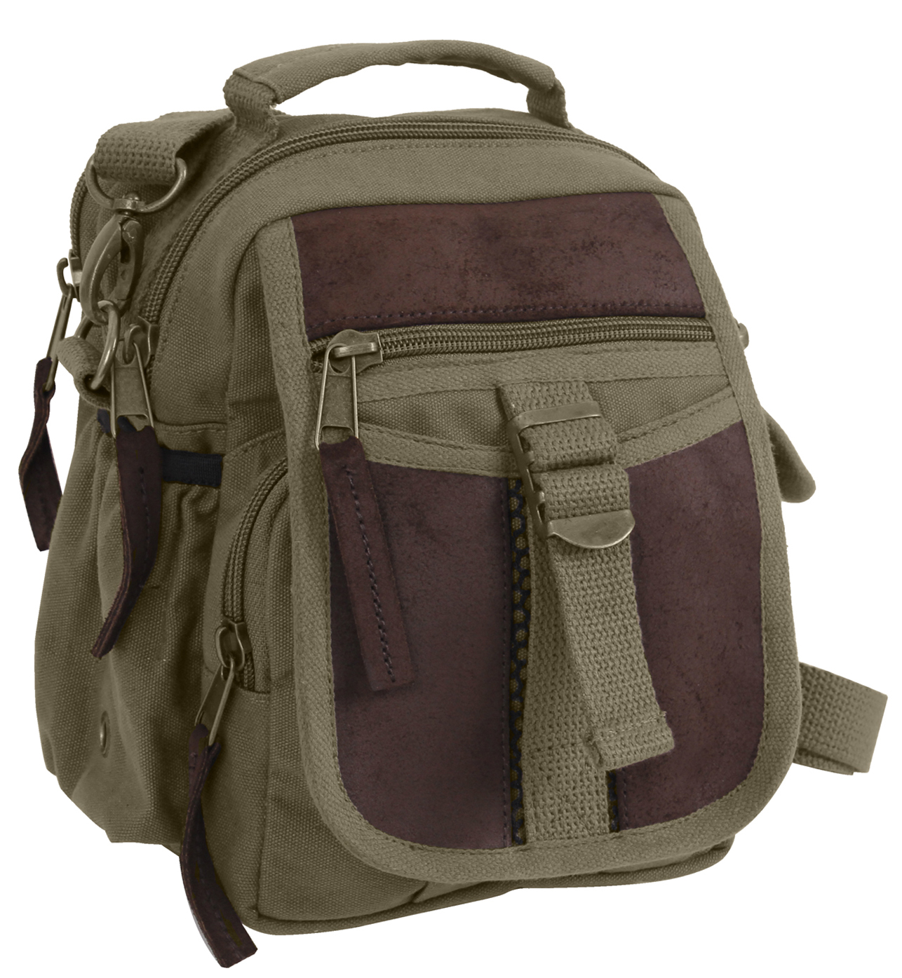 travel,leather,bag,shoulder,canvas,OD,Olive,Drab