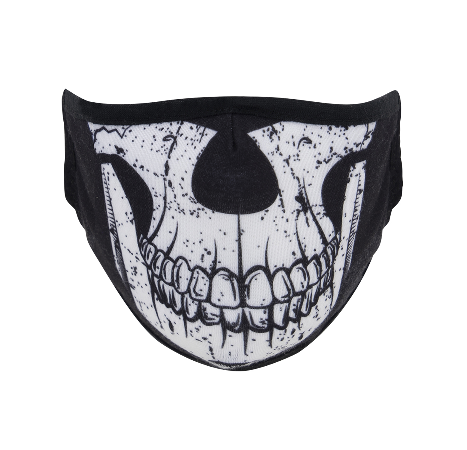 Half Skull Face Mask LRG/XLRG Black/White