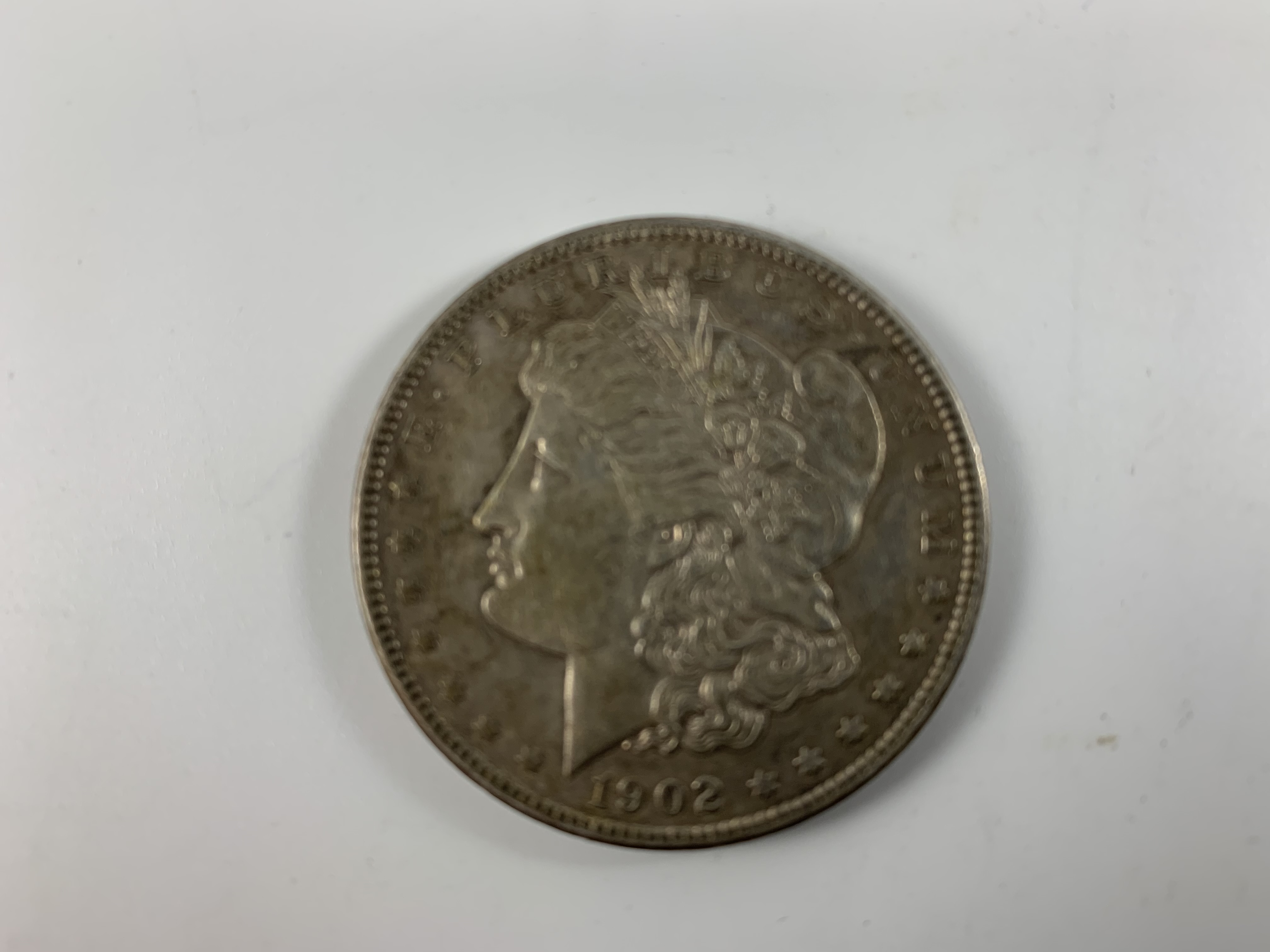 1902-P Morgan BU (barely circulated) Silver Dollar