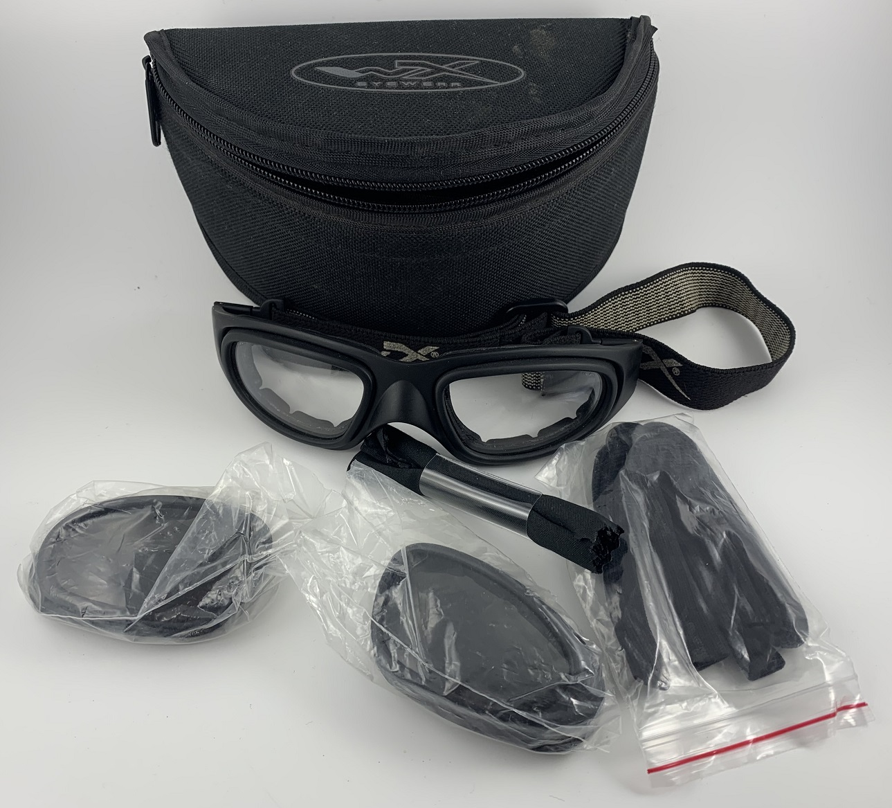 WileyX SG-1 Safety Goggles with lens, case extras
